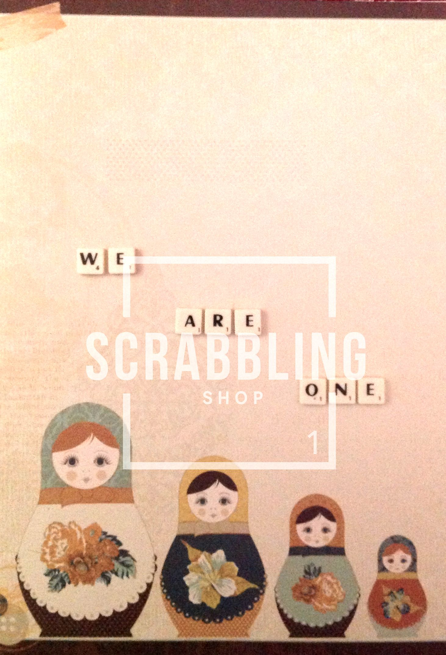 We are One www.scrabblingshop.com