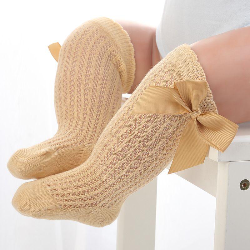 Kids Toddler Girl Cute Socks Knee Socks High Bow Knot Princess Long Tube Socks