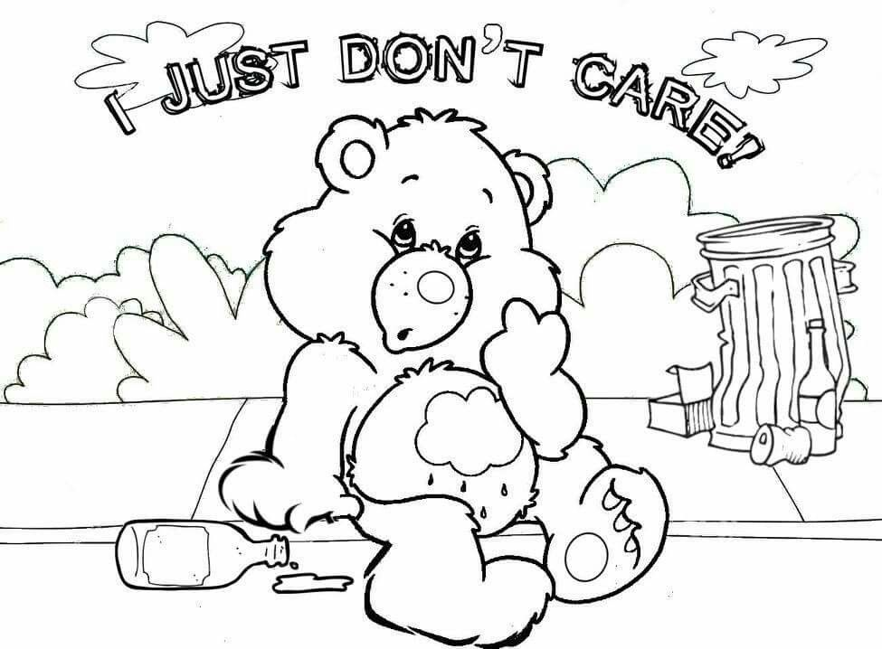 Adult Coloring Pages Care Bears Mirror Doodles Colouring Printable Books Sheets