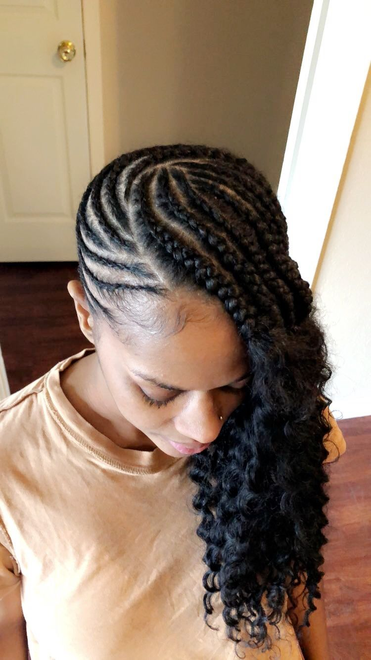 Lemonade Braids With Curly Ends Braided Hairstyles African Braids Hairstyles Natural Hair Styles