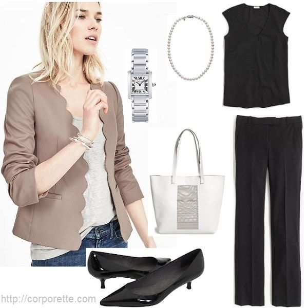 Work Outfit Ideas with Summer Blazers | White outfits Work outfits and Taupe