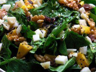 Ensalada De Espinacas Con Queso Y Mango Receta Espinacas Ensaladas Frescas Y Ensaladas