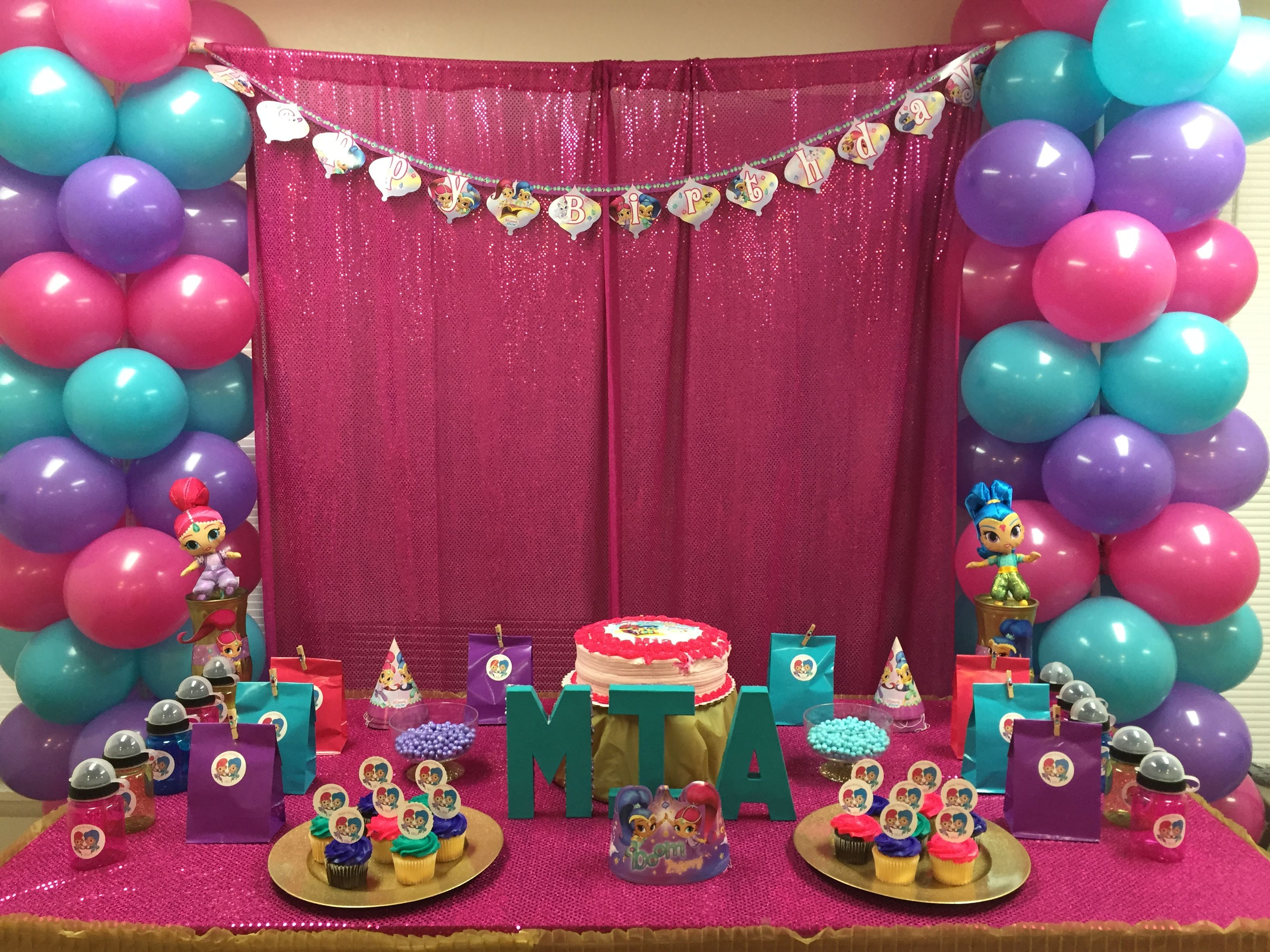 From Shimmer And Shine Birthday Party DIY Source Image