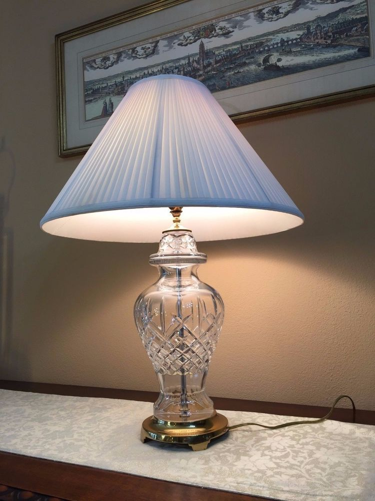 Waterford Crystal Lismore Pattern Table, Waterford Crystal Lamp Patterns