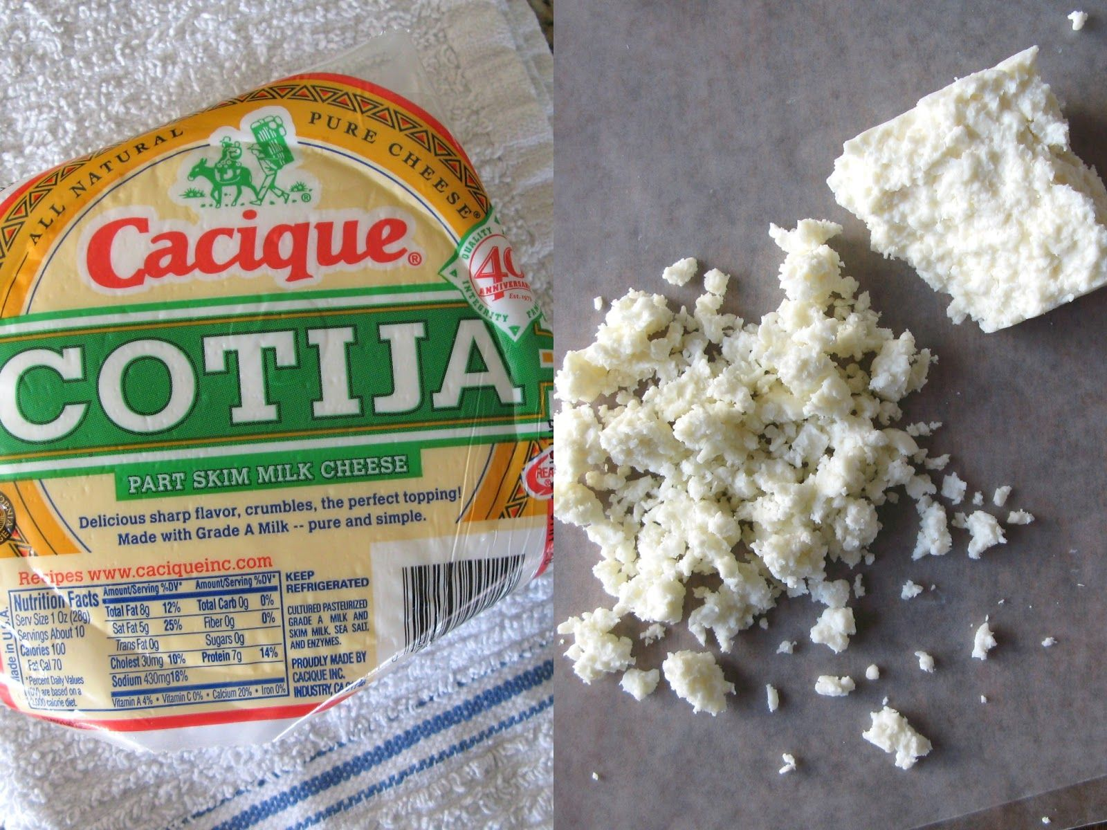 Pin By Kartch On Life Food Recipes Food Milk And Cheese Cotija Cheese