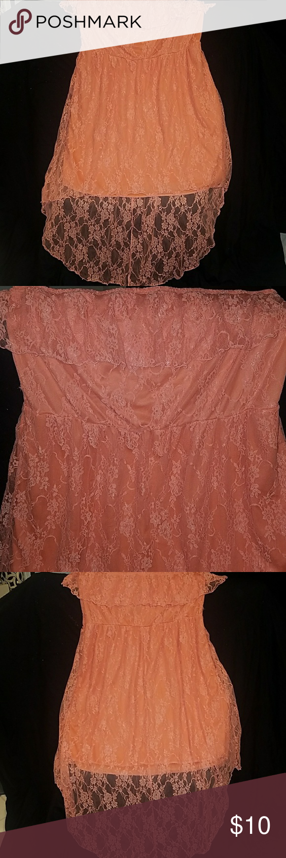 Lacey high low dress Strapless Smoke   Pet free home urban rose Dresses  High Low 11544ea88