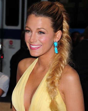 We have a total hairstyle crush on Blake Lively's chic 'do.