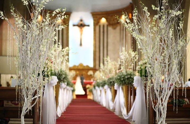 Twigs For The Church Together With Asters And Crystal Beads With