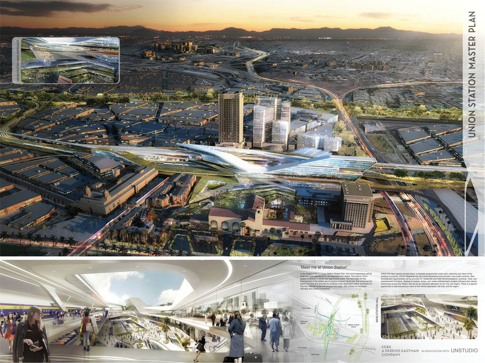 Gallery Of Six Visions For The Los Angeles Union Station Master Plan 8 Master Plan Union Station Architecture Presentation