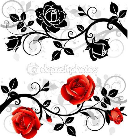 ornament with roses stock vector gizele 7220374 druck pinterest blumen vorlagen und. Black Bedroom Furniture Sets. Home Design Ideas