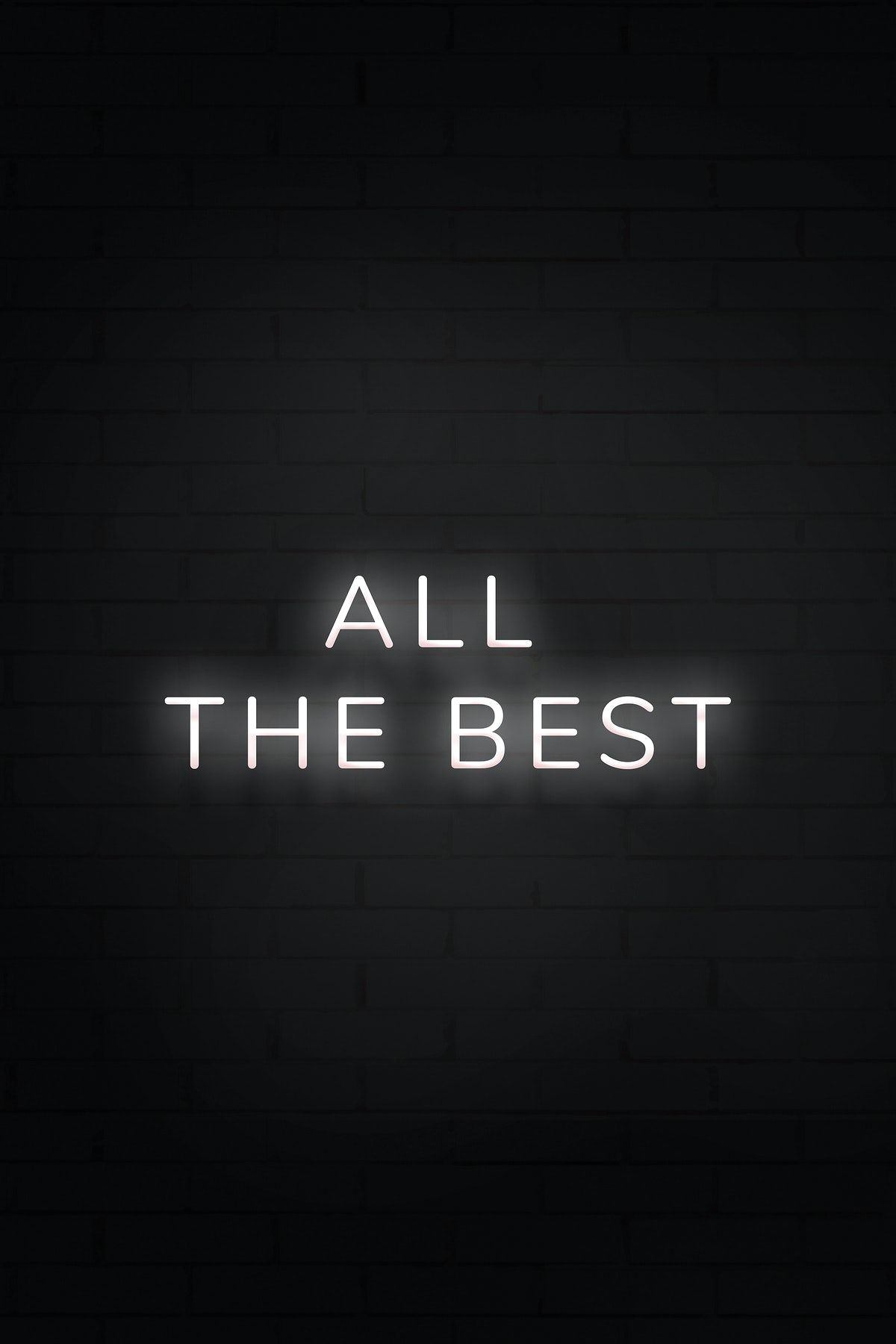 All The Best Neon White Text On Black Background Free Image By Rawpixel Com Black And White Photo Wall Black Aesthetic Wallpaper Black And White Aesthetic