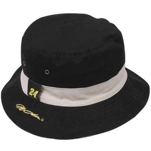 NASCAR Chase Authentics Jeff Gordon Black-Khaki Angler Reversible Bucket Hat  by Football Fanatics. ce2785af33d