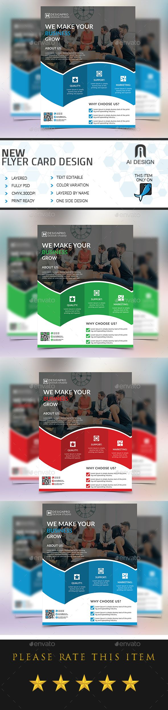 Powerpoint Templates For Business Flyers Erkalnathandedecker