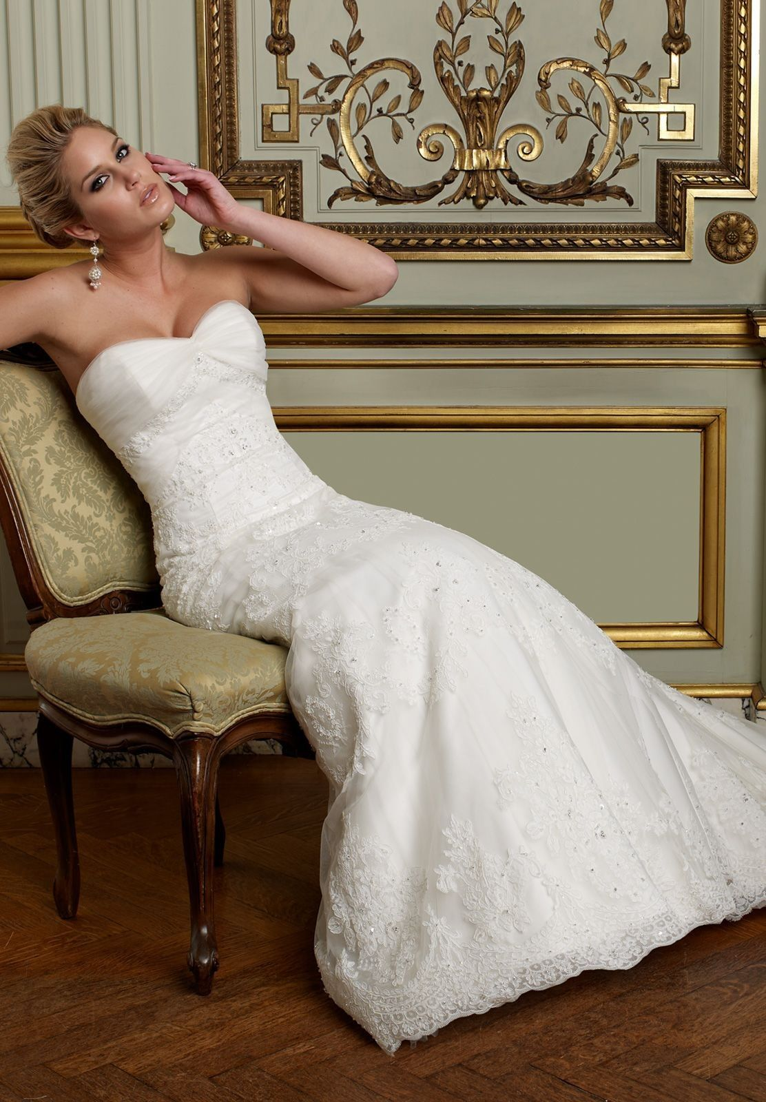 Tulle and lace sweetheart aline convertible wedding dress bride
