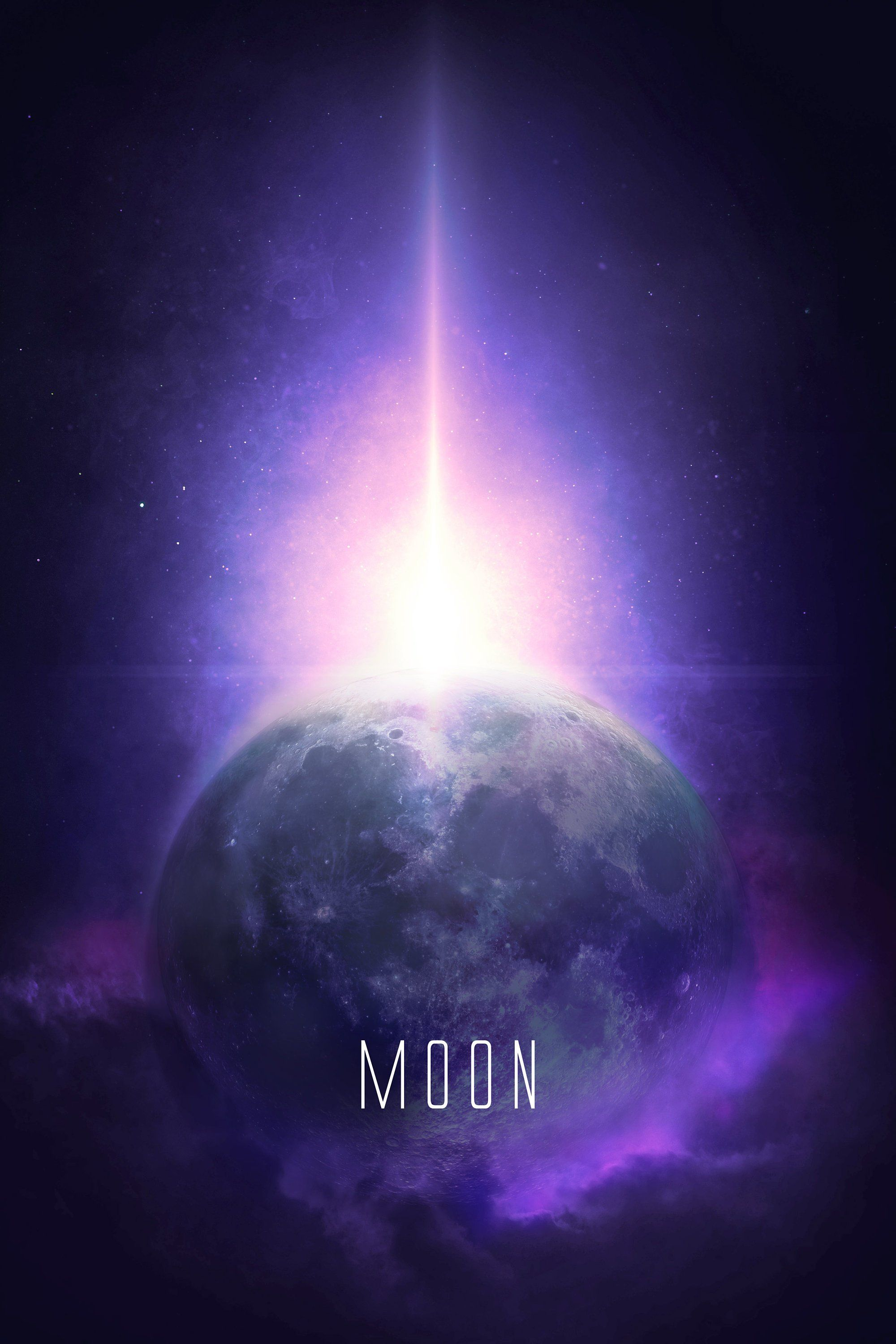 Moon Wall decor poster Moon poster, Space and astronomy