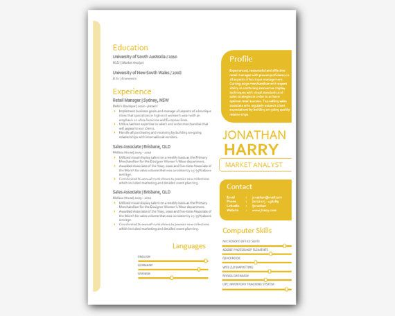 Mothers Day Sale Gold Modern Microsoft Word Resume by INKPOWER - ms word for sale