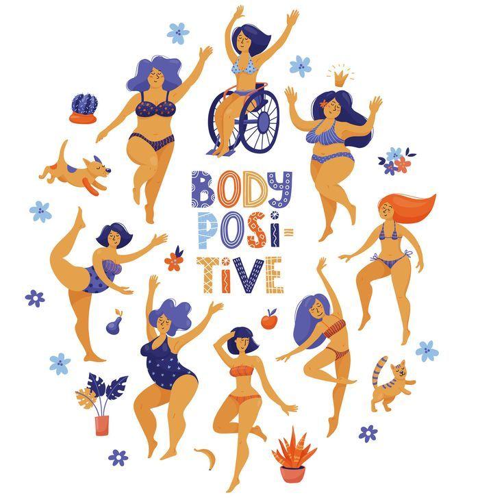 Girls Illustration Stop Body Shaming Love Your Body Or No One Else Will Treat Your Body Like Goal Be Body Positivity Inspiration Body Shaming Body Positivity