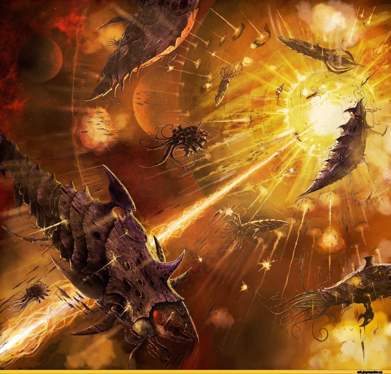 warhammer 40000,фэндомы,tyranids,wh starship | Warhammer 40k tyranids, Tyranids, Warhammer art