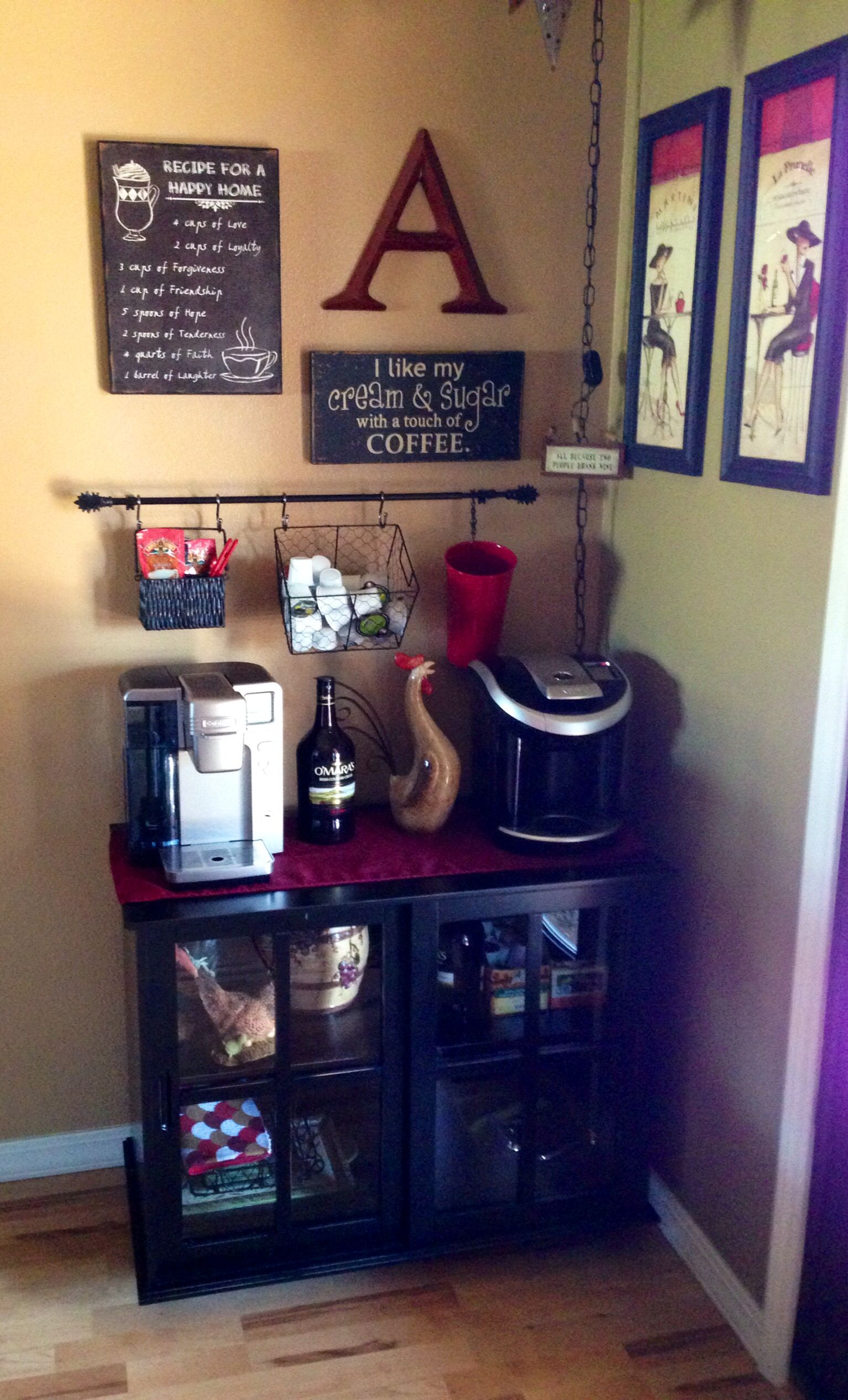 love my coffee bar diy coffee bar ideas pinterest. Black Bedroom Furniture Sets. Home Design Ideas