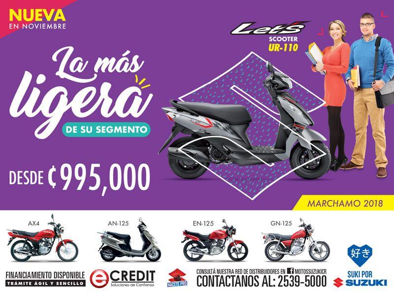 Nueva Scooter Suzuki Lets Llevatela Con Marchamo 2018 Para Mas