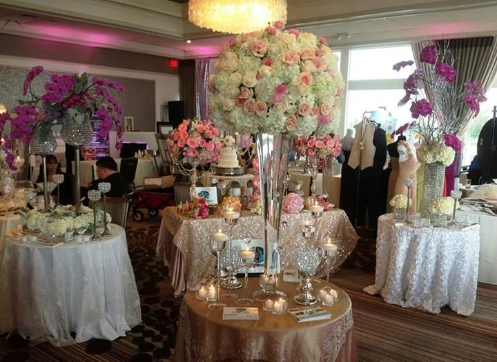 Centerpieces. White Hydrangeas. Ivory Roses. Pink Roses ...