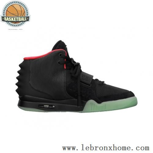 new style 6946a 9787b Nike Air Yeezy 2 Black Solar Reds