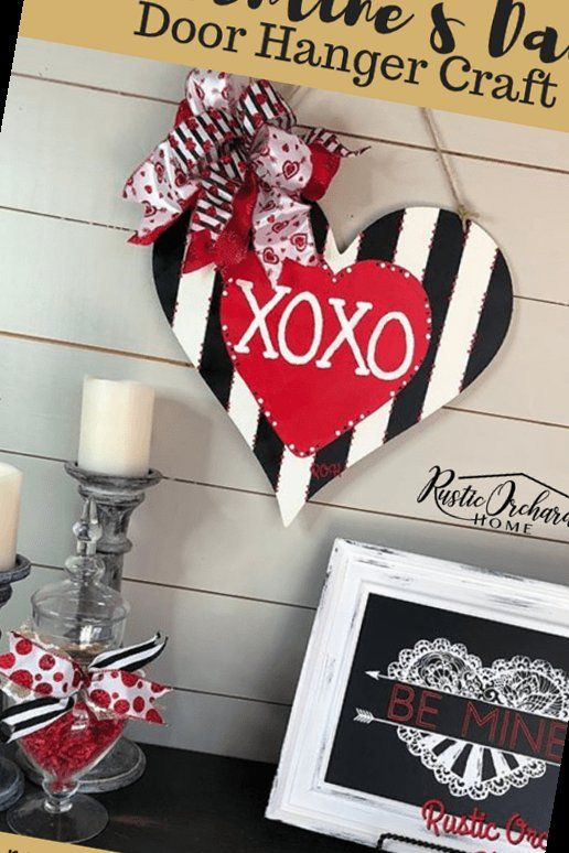 Photo of 16+ Diy Valentine'S Day Door Hanger Craft | Valentine Crafts To Sell | 2020