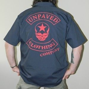 Unpaved Clothing Co Rocker Skull Dickies Mechanic Shirt