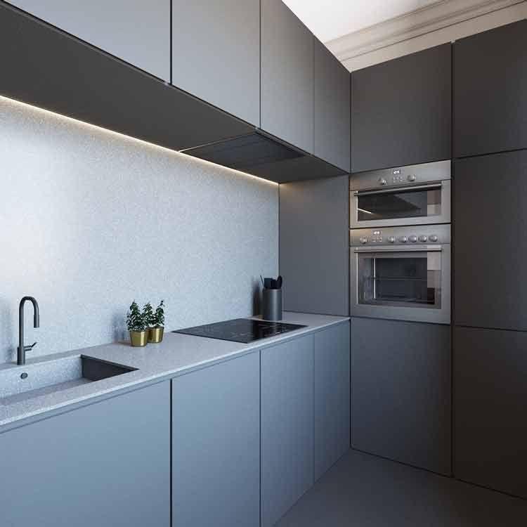 25 Minimalist Kitchen Set Aluminium Model Kitchen Set In