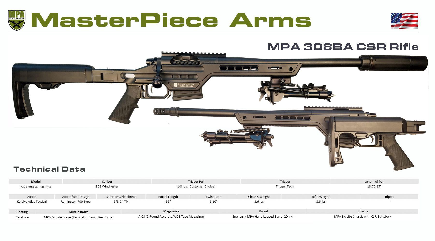 Masterpiece Arms - MPA 308BA CSR Rifle | G | Guns, Weapons