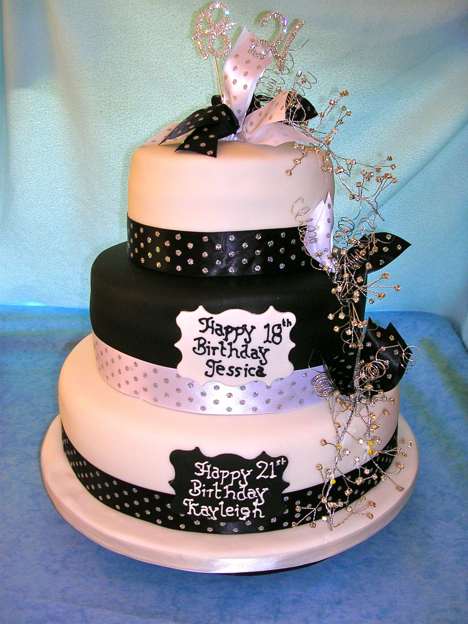 images of joint 18th and 21st birthday cake angelicas