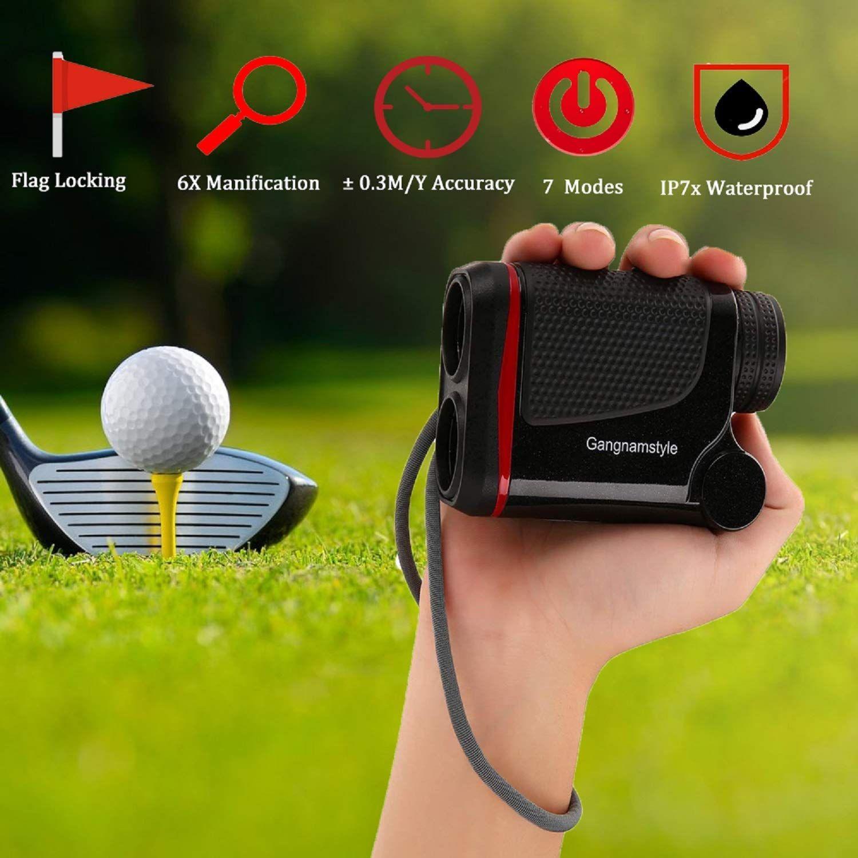 Gangnamstyle rf011000b laser golf rangefinder with flag