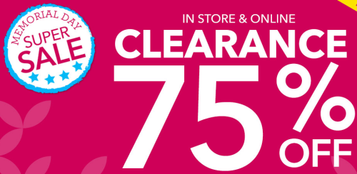 Claire's Memorial Day Sale! Save up to 75% Off Clearance!
