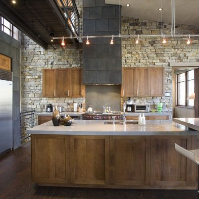 Kitchen Design Ideas Pictures Remodel And Decor Rustic Modern Kitchen Rustic Industrial Kitchen Industrial Kitchen Design