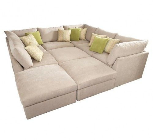 Use As Normal Sectional And The Inner Squares As Other Seating But Then On Slumber Par Contemporary Sectional Sofa The Big Comfy Couch Contemporary Sectional