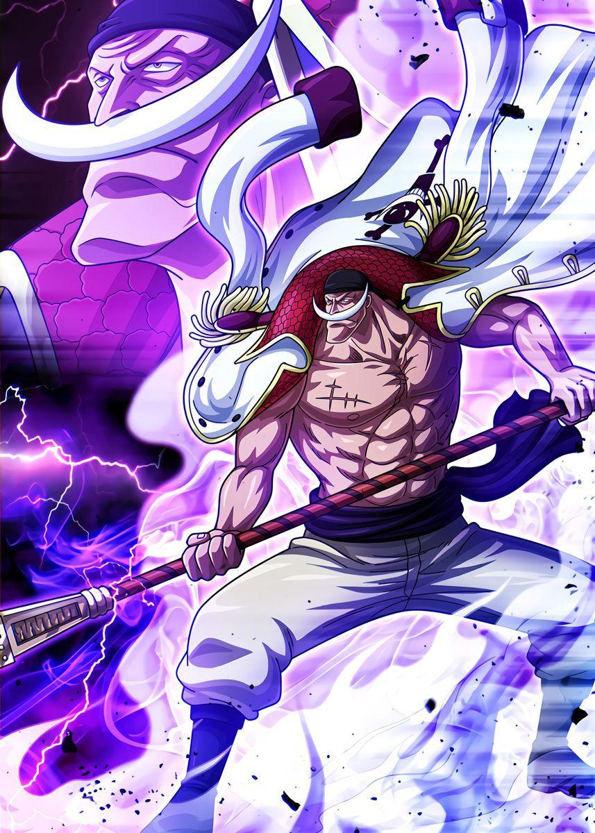 'Whitebeard One Piece' Metal Poster - OnePieceTreasure | Displate