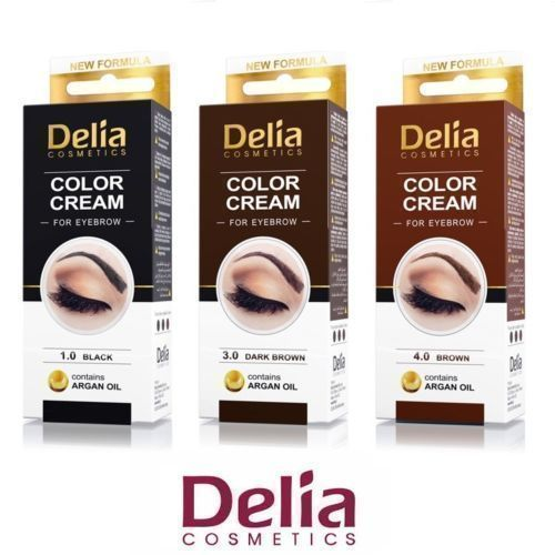 Profession Delia Henna Color Cream Eyebrow Tint Kit Dye Black Brow