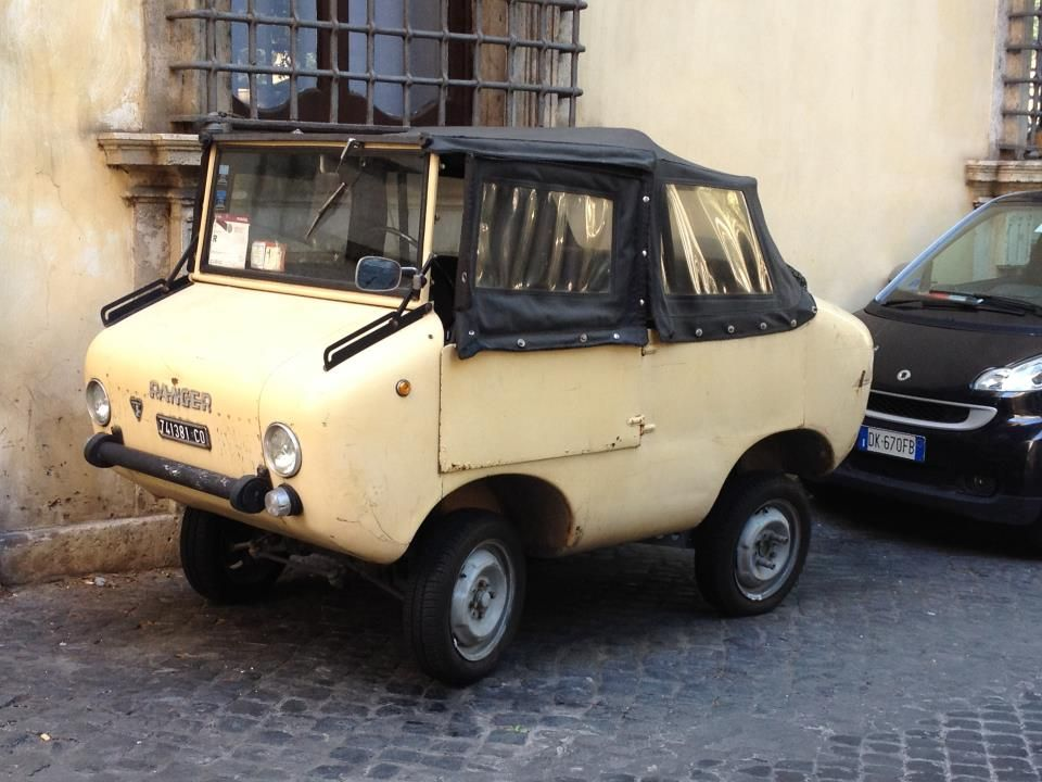 When visiting Rome, I spotted this Fiat Ranger micro car