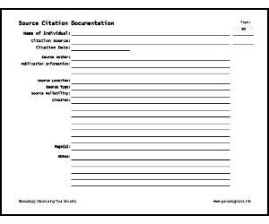 Source Citation Form ~ FREE* | Genealogy Tips | Pinterest ...