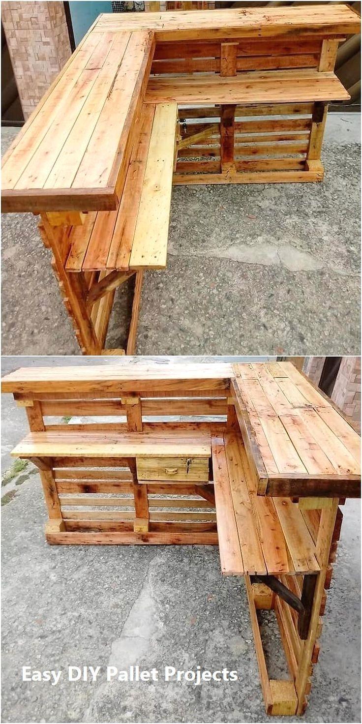 DIY ideas Using Wood Pallets nel 2020 | Mobili pallet fai da