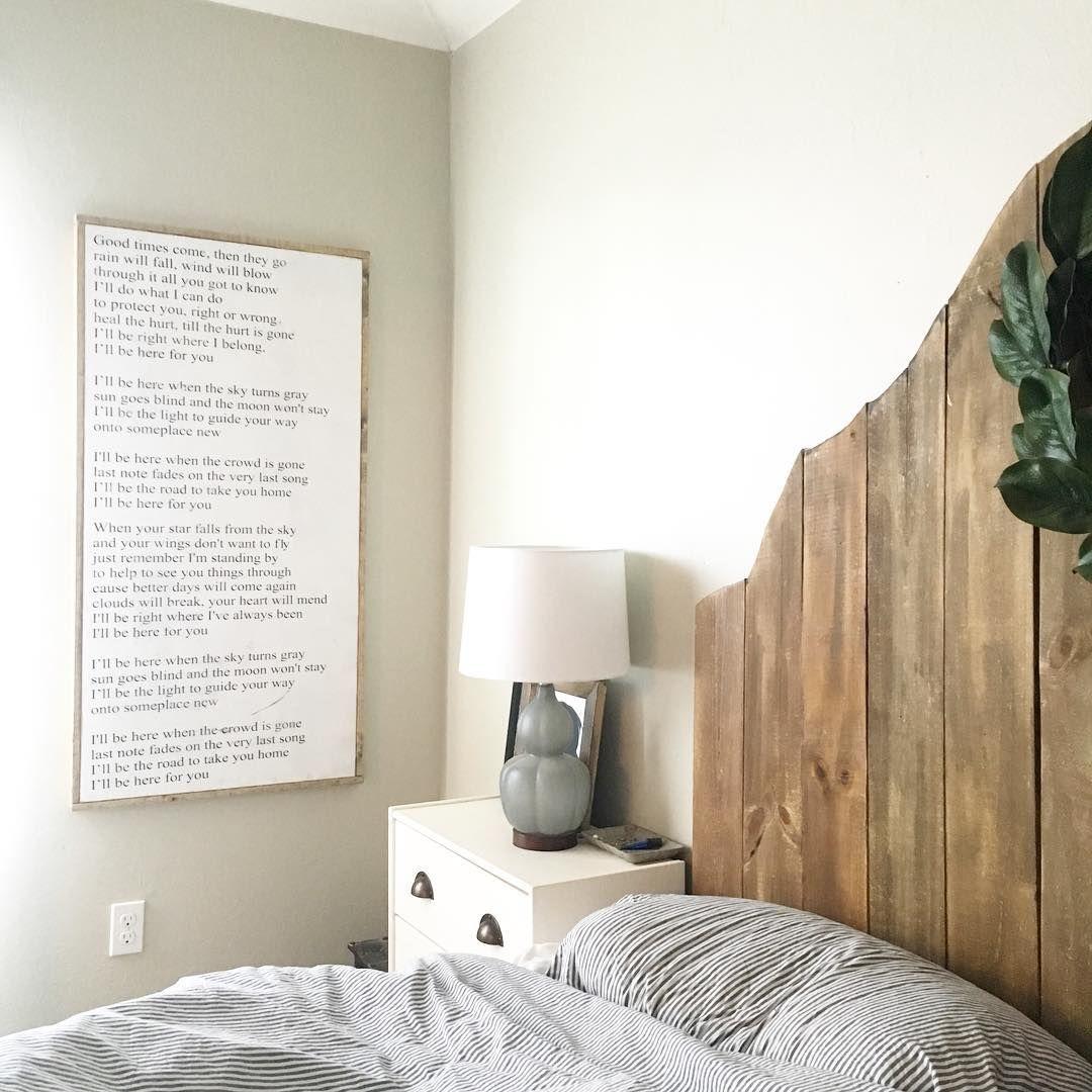 Modern Farmhouse Bedroom Wedding Song Gift Framed Wood Sign Headboard