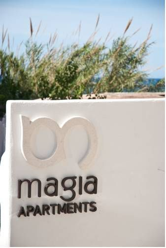 Magia Apartments Chania Magia Apartments enjoy a central location 30 metres from the beach of Chania in Nea Chora. It offers bright studios and apartments with private balcony with sea view or garden view.