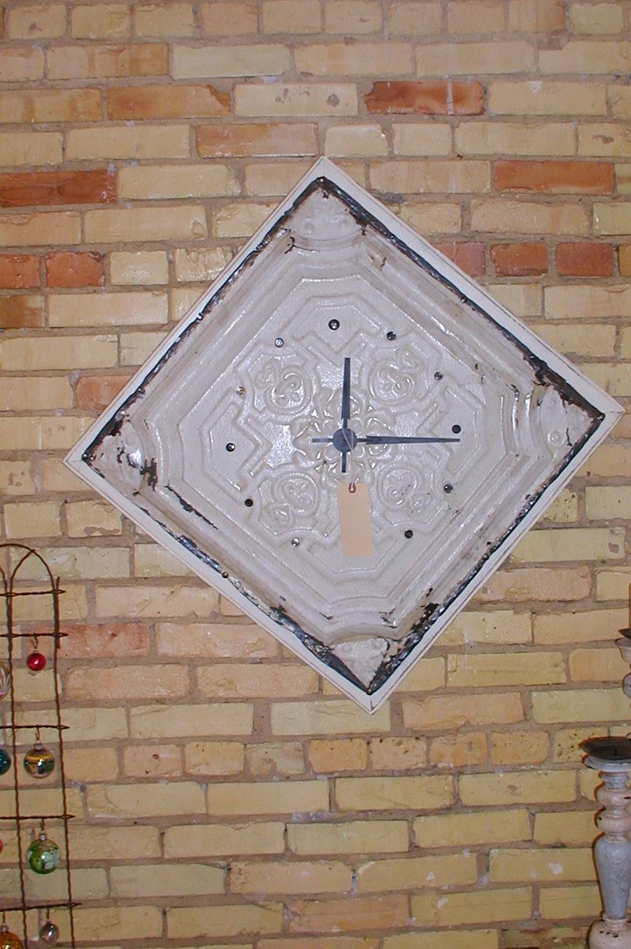 Antique Ceiling Tile Clock Tin Ceiling Tiles Ceiling