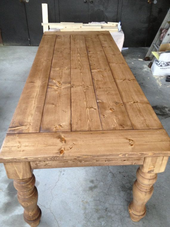 Farmhouse Dining Table With Handturned Legs Furniture