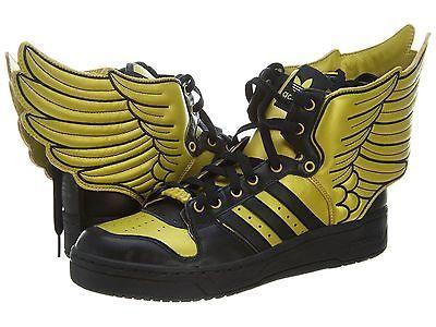 designer fashion ccf8d fe82b ADIDAS JS WINGS 2.0 MENS G44824 Gold Black Jeremy Scott Shoes Sneakers Size  10