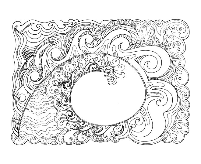 calming art therapy coloring pages