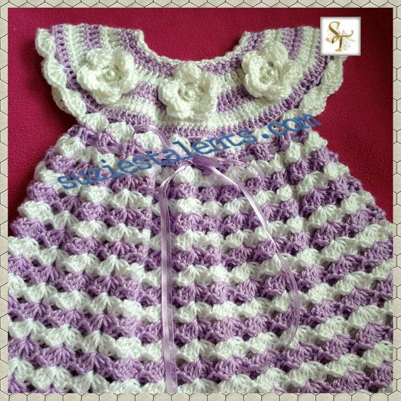 PATTERN PT072 Crochet Baby Dress Baby Dress by PatternsDesigner ...