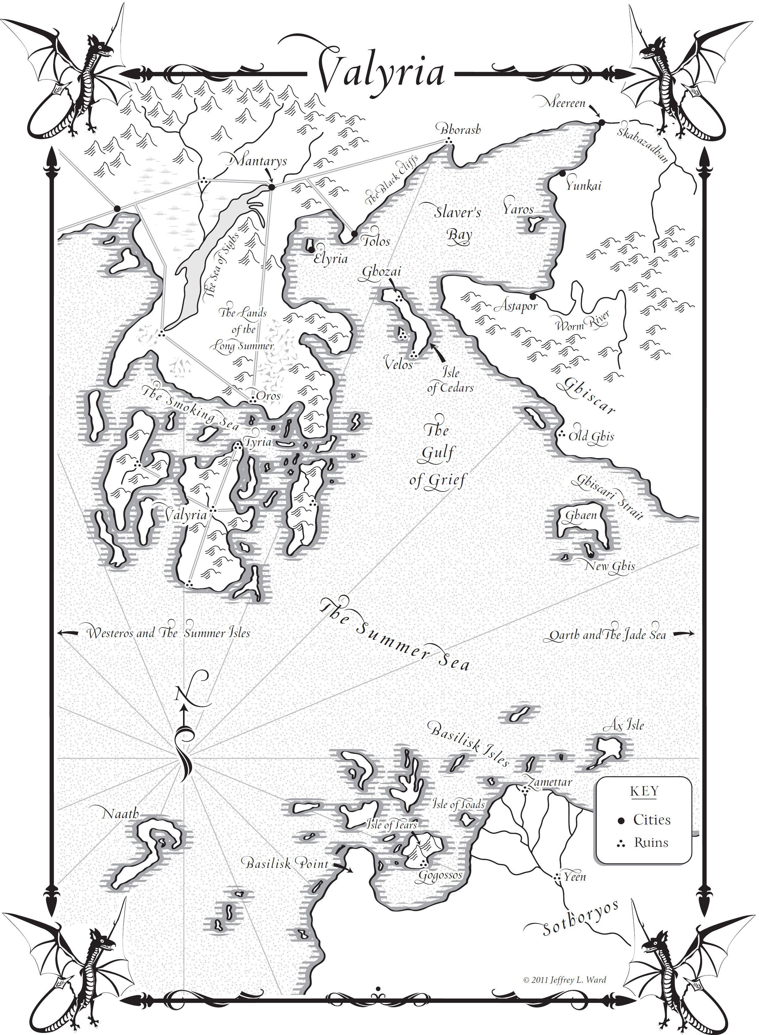 Meereen Skabazabdan Yunkai Astapor Basalisk Isles Valyria Old