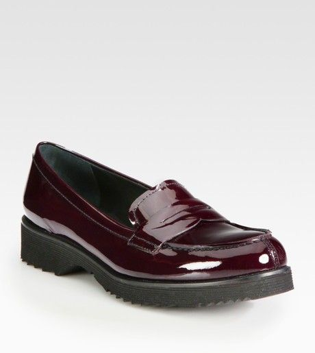 5a41d0147b51 Women s Red Patent Leather Penny Loafers