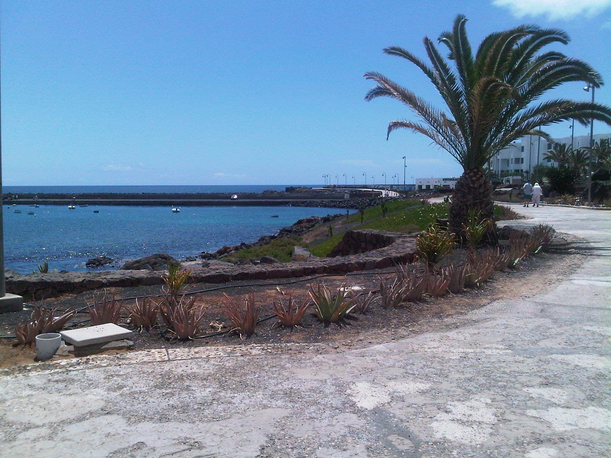 Walking down the Promenade in Costa Teguise, Lanzarote